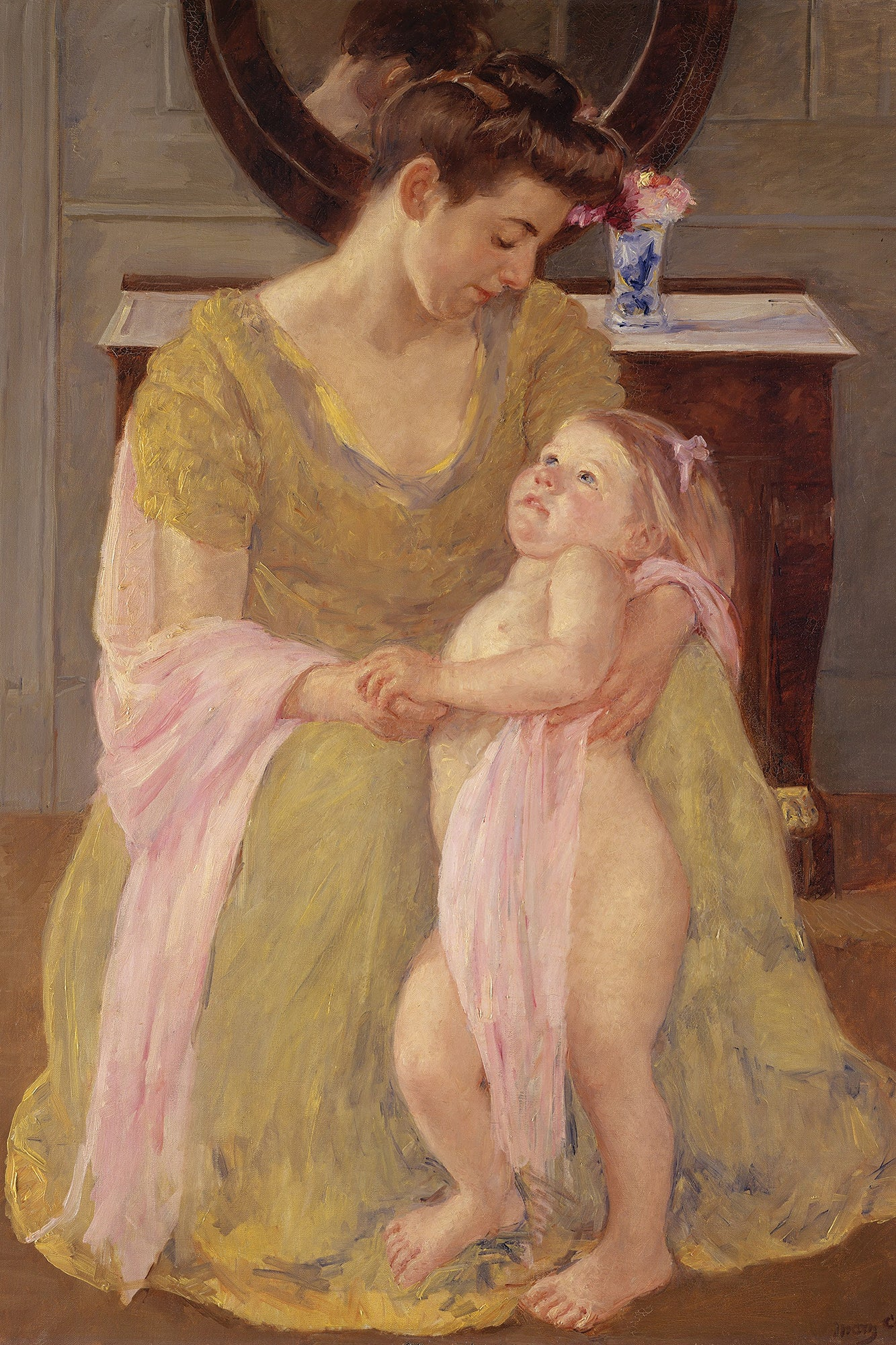 Mother and Child with a Rose Scarf, Mary Cassatt, ca. 1908, oil on canvas