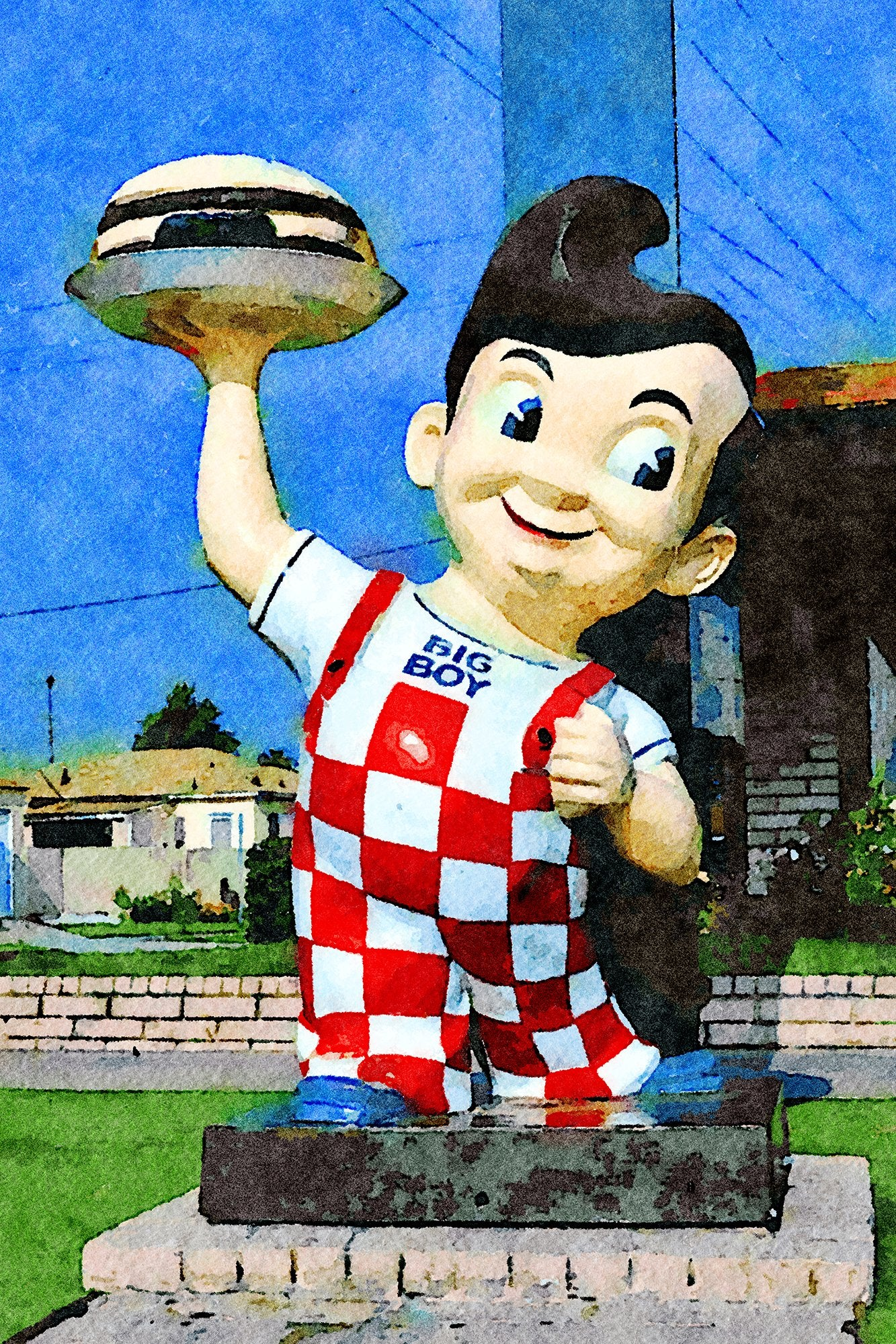 Bob's Big Boy Statue Sign, La Cienega Boulevard, Los Angeles, California, Reworked, Series 1