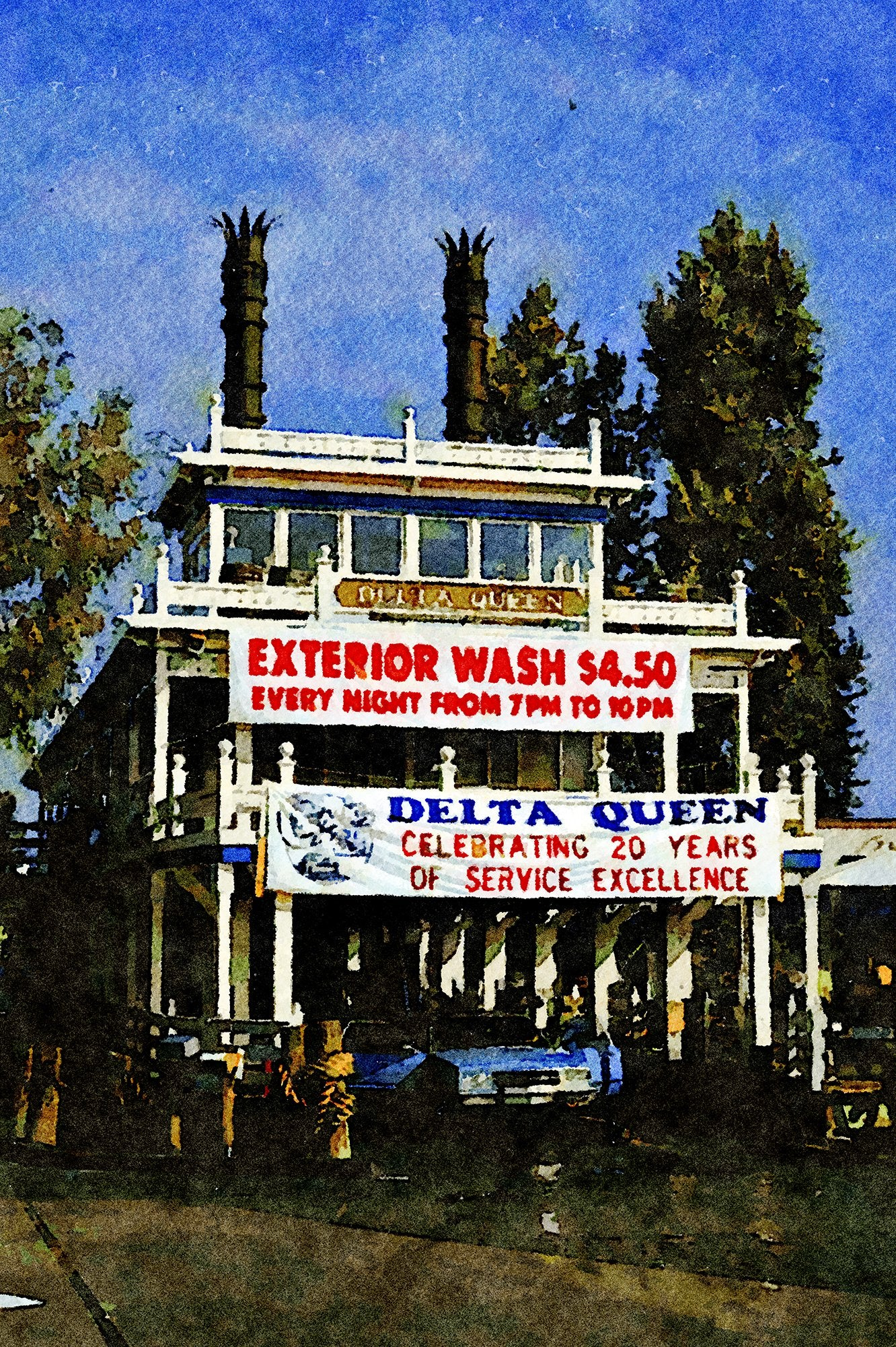 Delta Queen Car Wash, Hamilton Avenue Near Bascom, Campbell, California, Reworked, Series 1