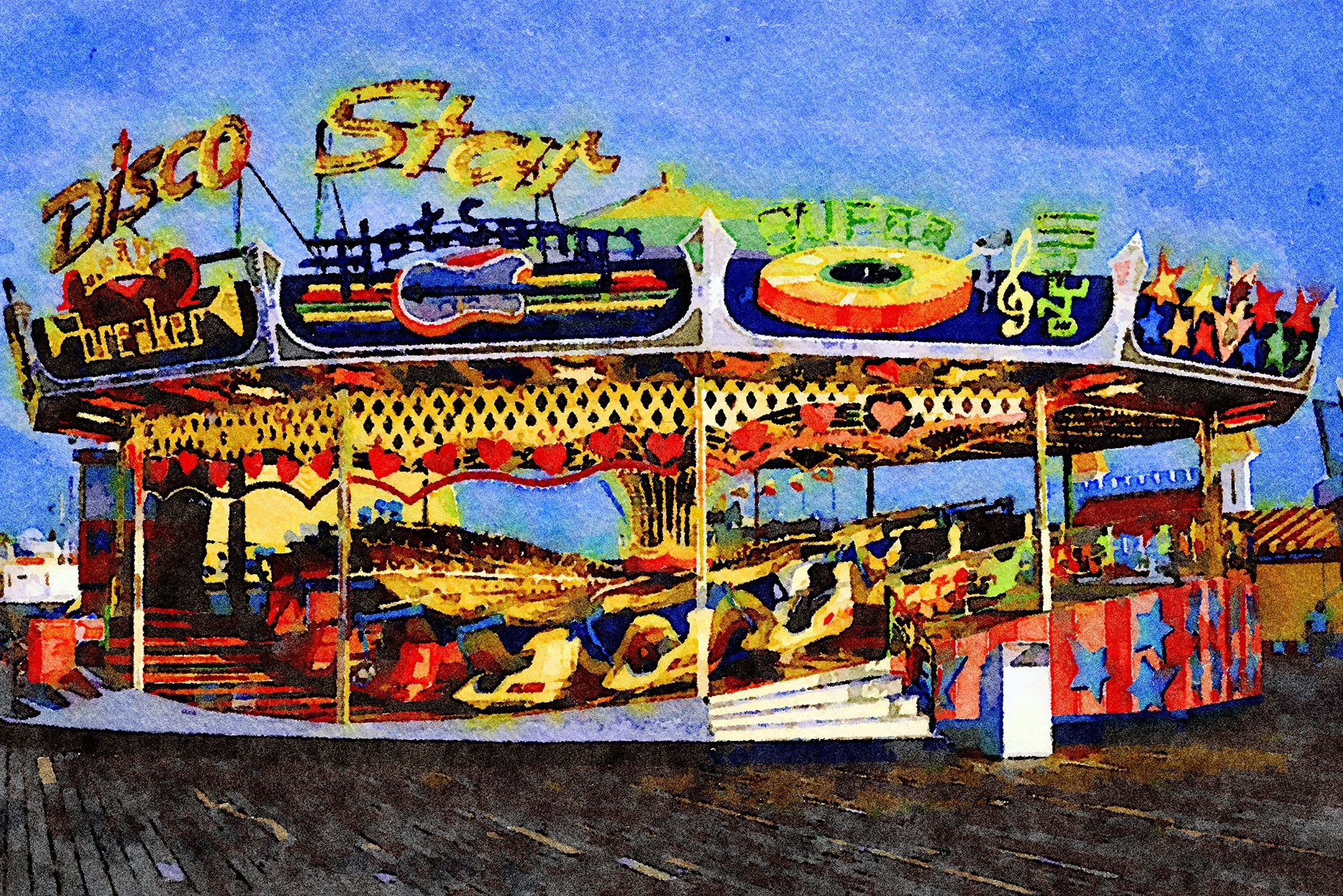 Disco Star Ride, Seaside Heights, New Jersey, Reworked, Series 1