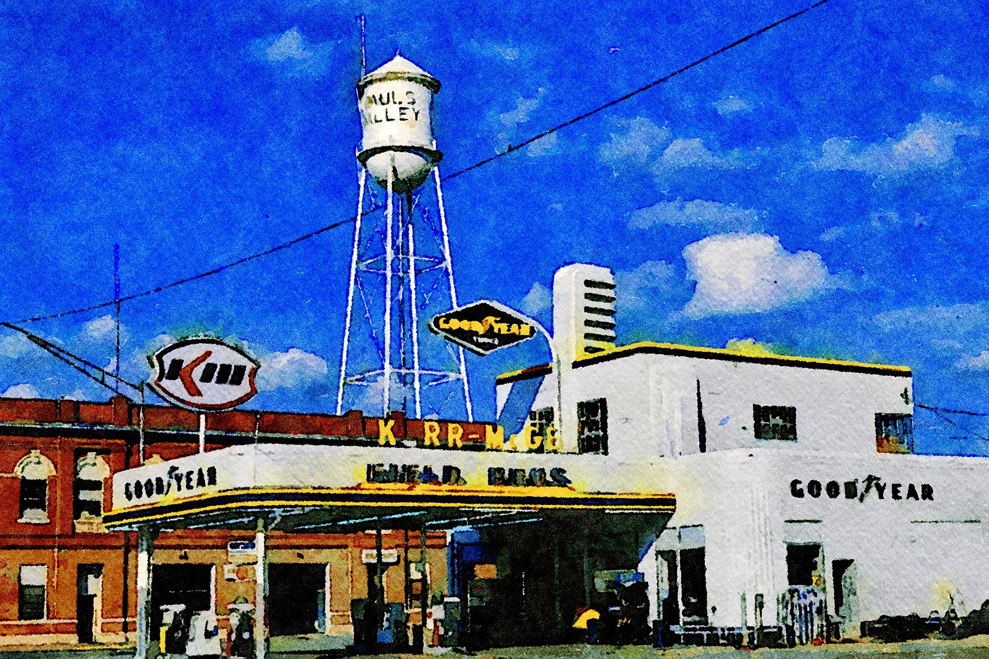 Field Brothers Service Station, 300 West Paul, Paul's Valley, Oklahoma, Reworked, Series 1
