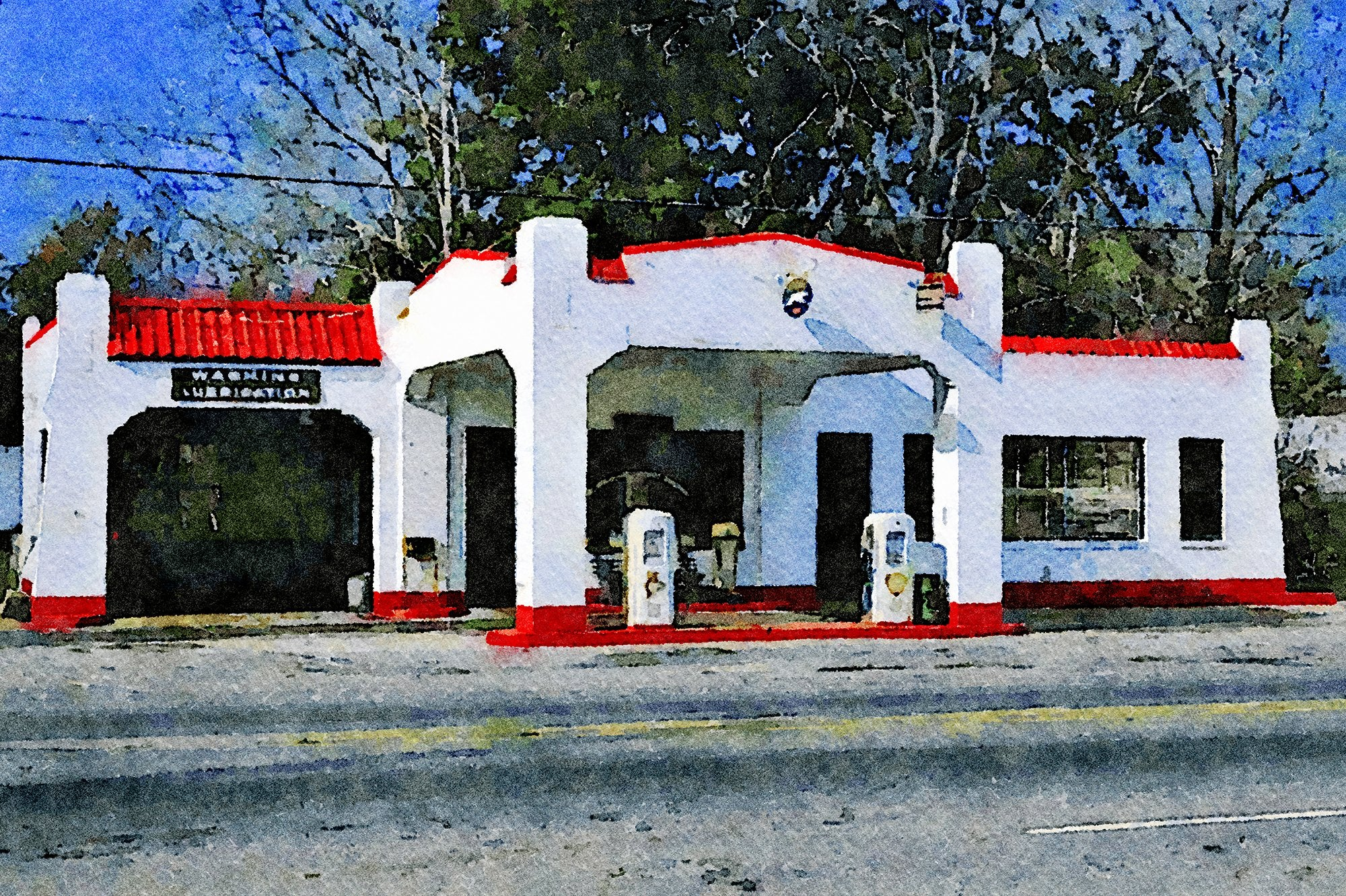 Fina Gas Station, Route 17, Kingsland, Georgia, Reworked, Series 1