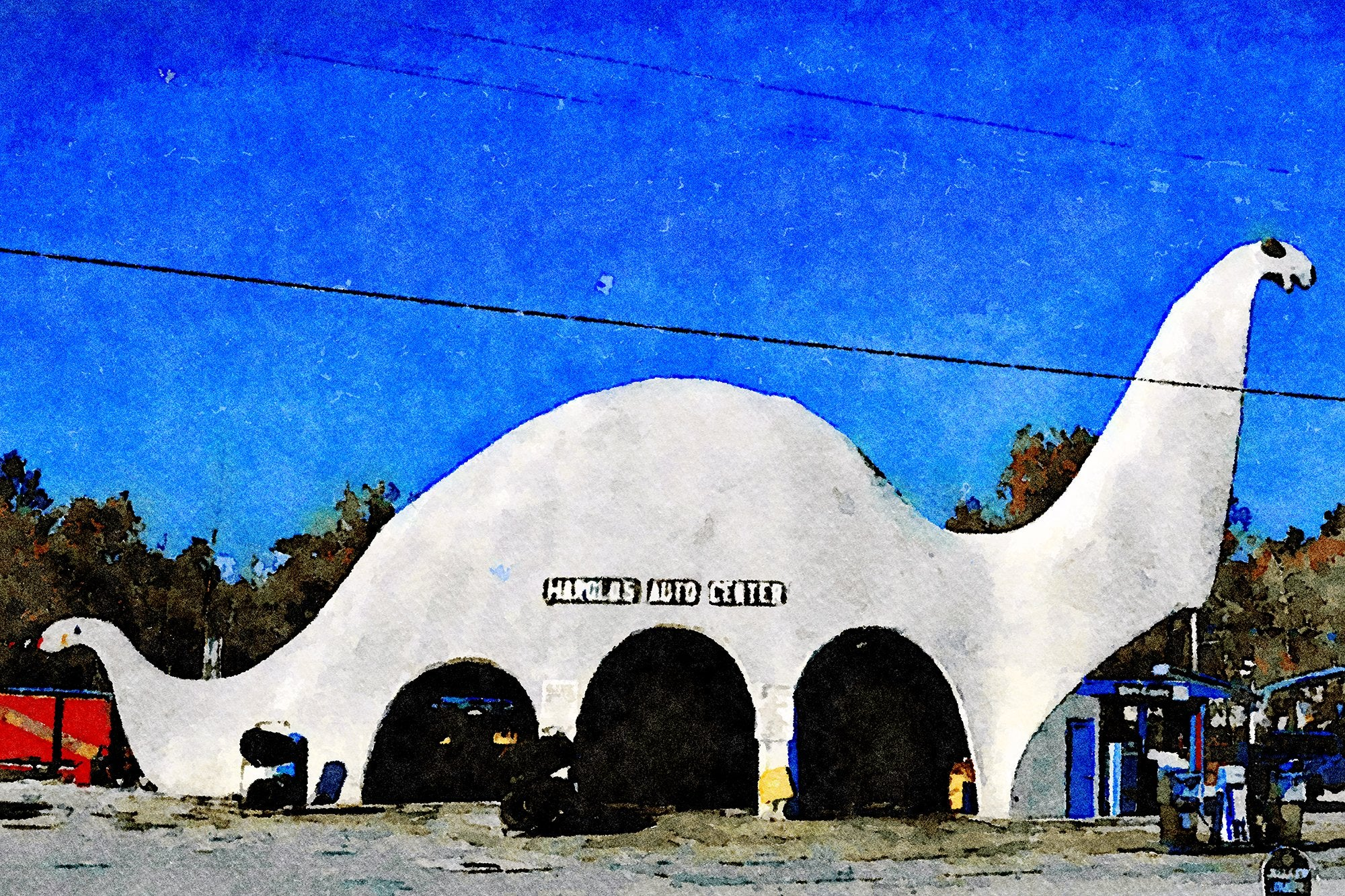 Harold's Auto Center, Sinclair Gas Station, Route 19, Spring Hill, Florida, Reworked, Series 1
