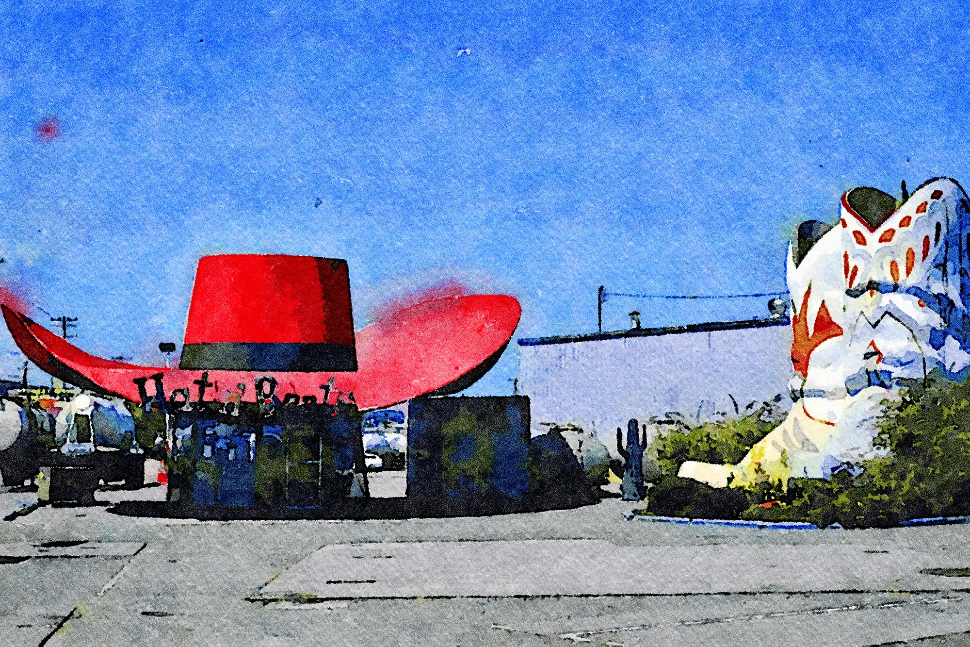 Hat 'n Boots Gas Station, Route 99, Seattle, Washington, Reworked, Series 1