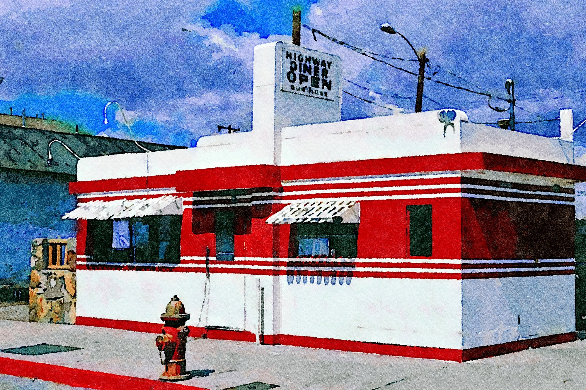 Highway Diner, Route 66, Winslow, Arizona, Reworked, Series 1