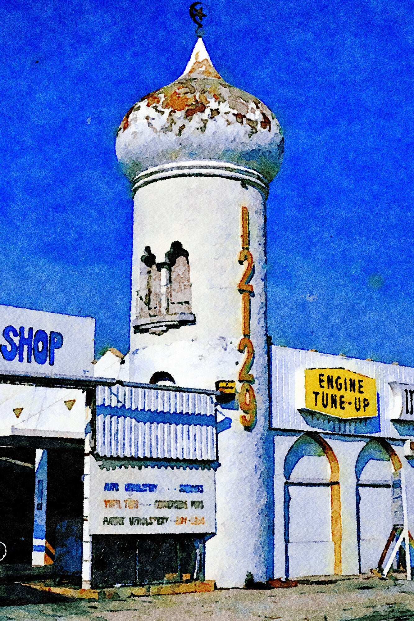 Hillborn Top Shop, Formerly Gates Tires, Tower View, Washington Place 7, Grandview Mar Vista, California, Reworked, Series 1