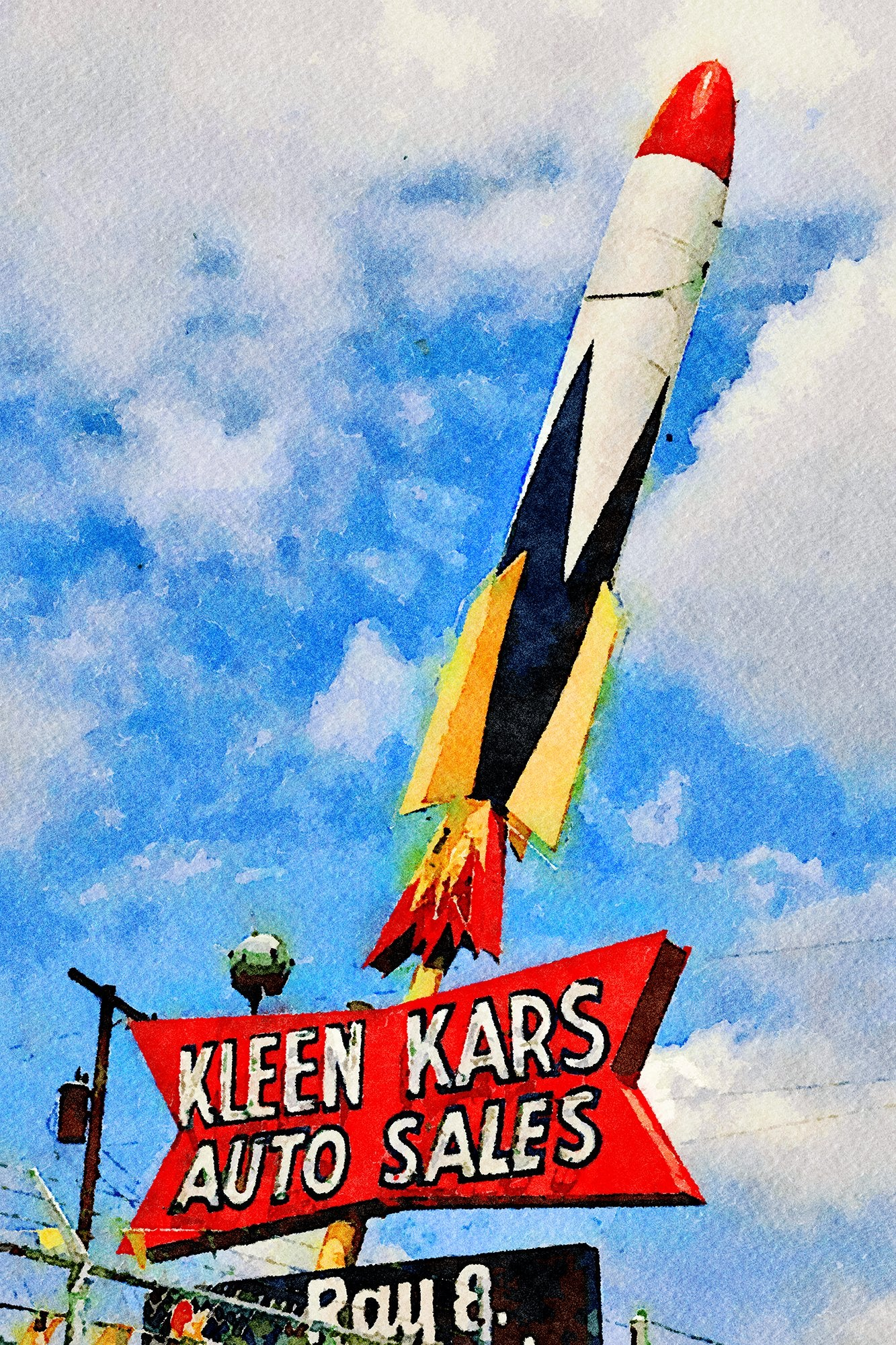 Kleen Kars Sign, Salt Lake City, Utah, Reworked, Series 1