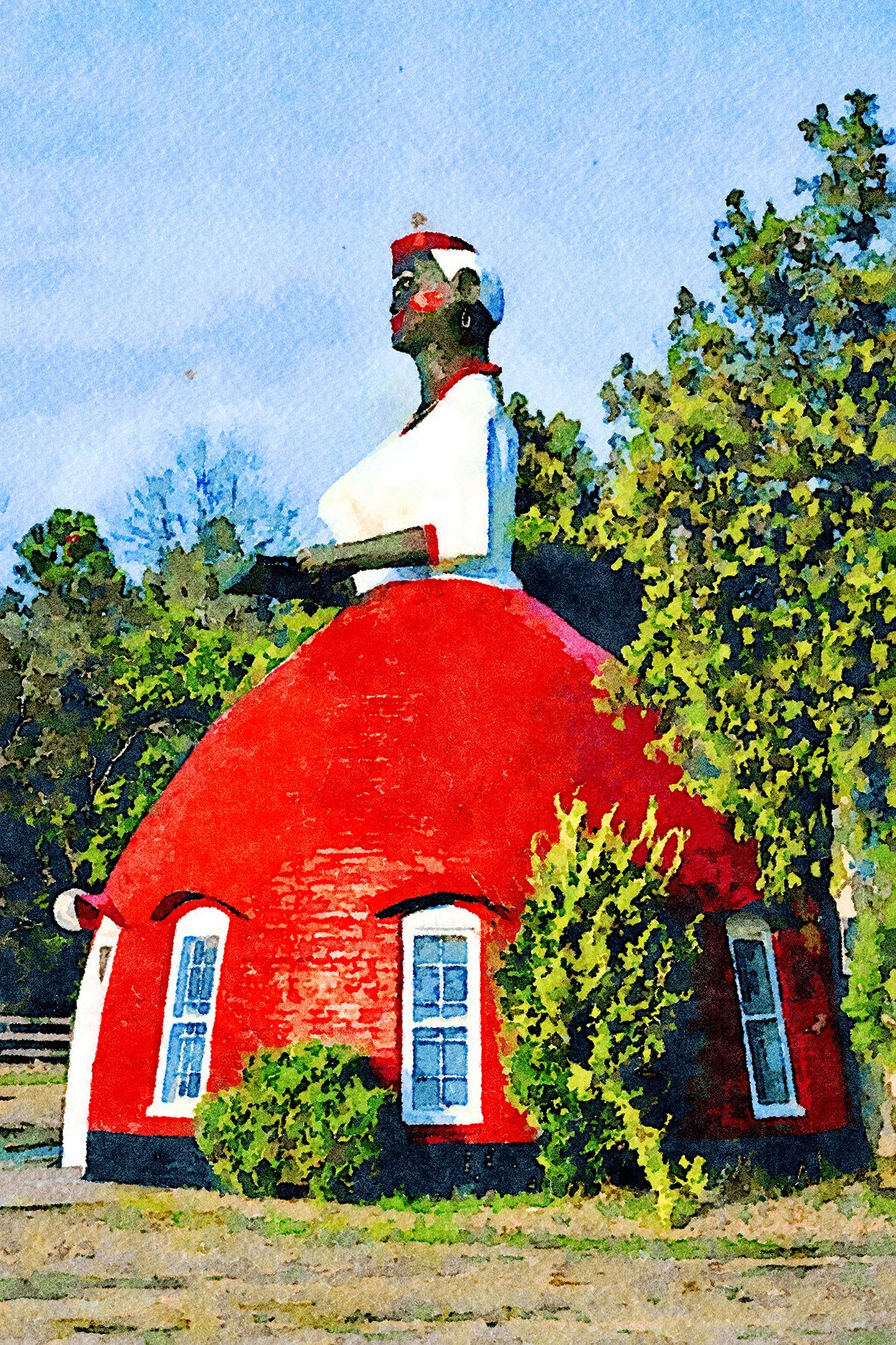 Mammy's Cupboard, Side View, Route 61, Natchez, Mississippi, Reworked, Series 1