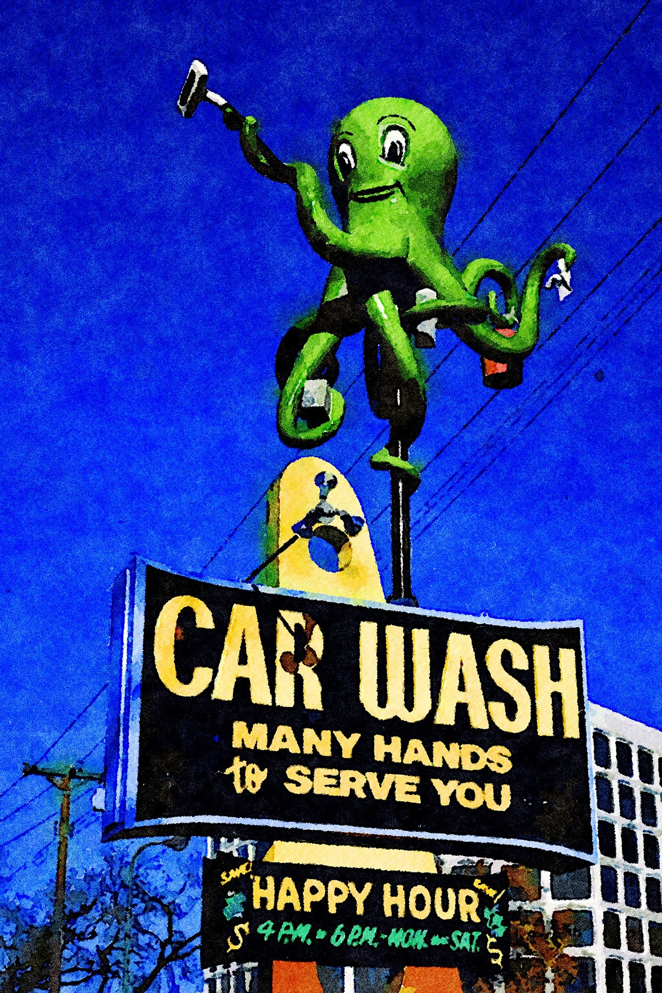Octopus Car Wash, Minneapolis, Minnesota, Reworked, Series 1