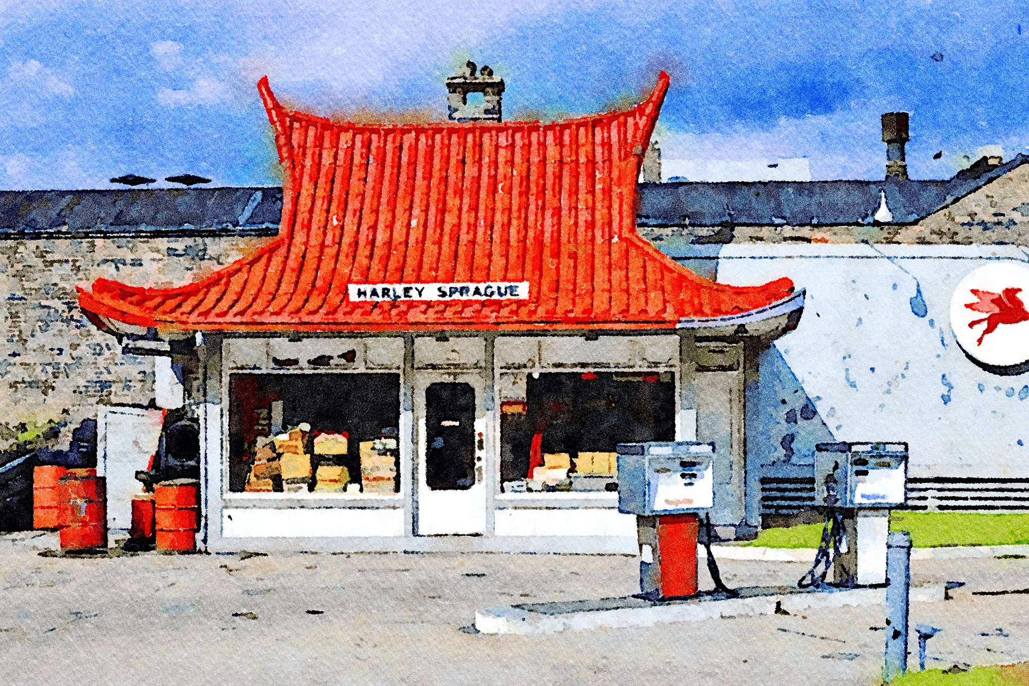 Pagoda Gas Station, Harley Sprague, Milwaukee, Wisconsin, Reworked, Series 1