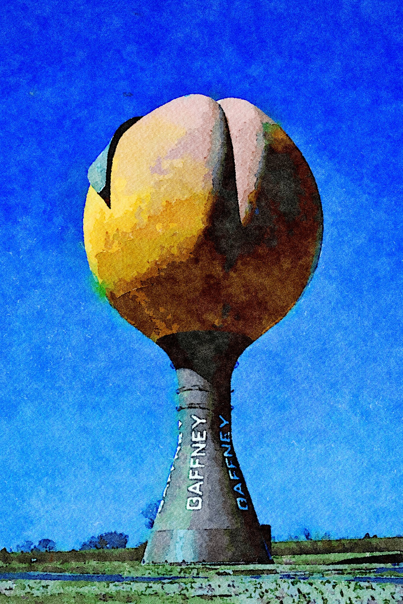 Peach Water Tower, Frontage Road, Gaffney, South Carolina, Reworked, Series 1