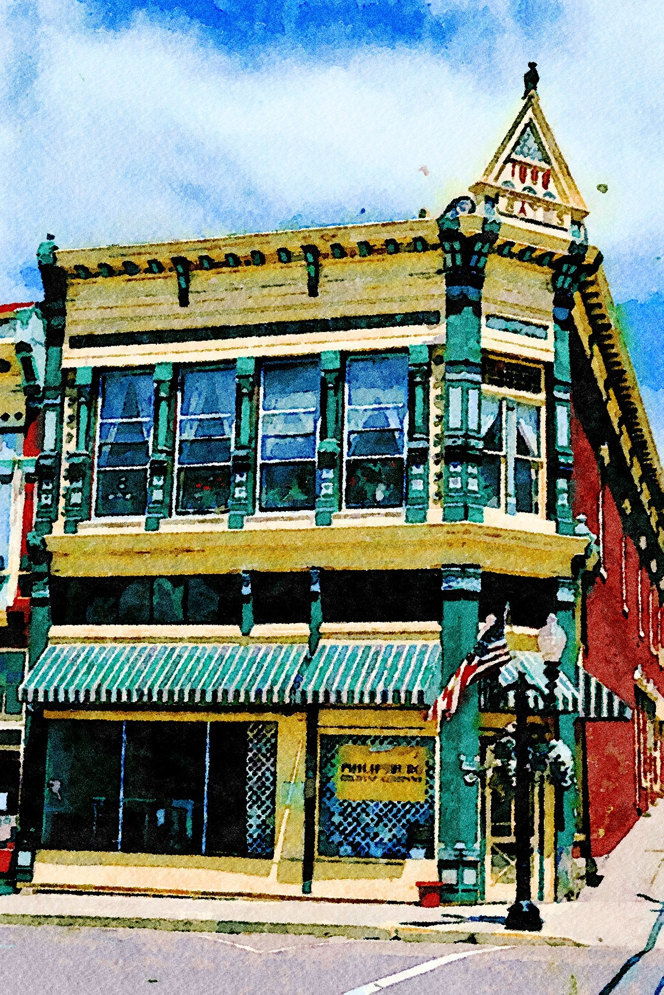 Sayrs Building, 1896, Broadway, Philipsburg, Montana, Reworked, Series 1