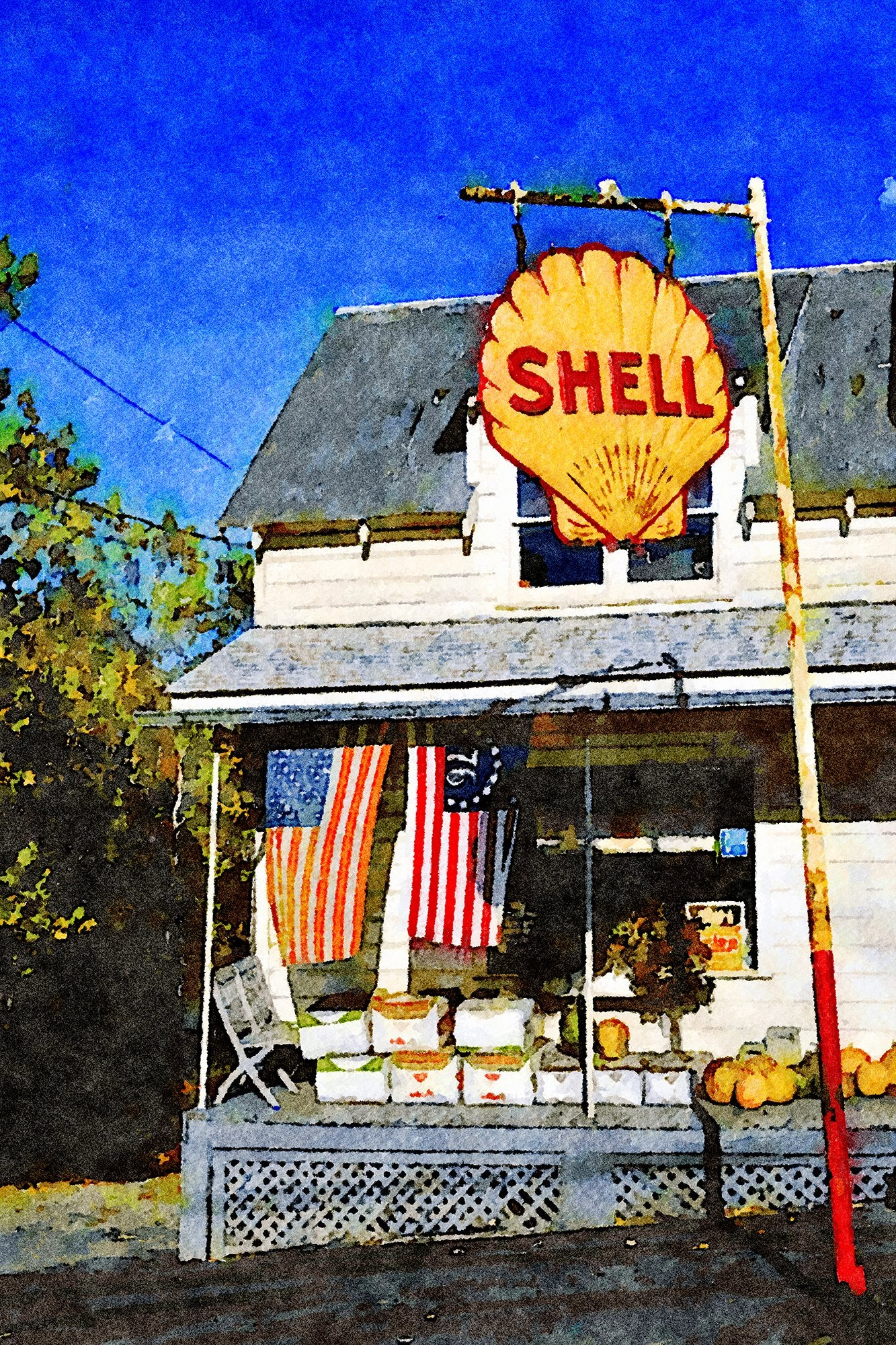 Shell Gas Sign and General Store, Olivebridge, New York, Reworked, Series 1