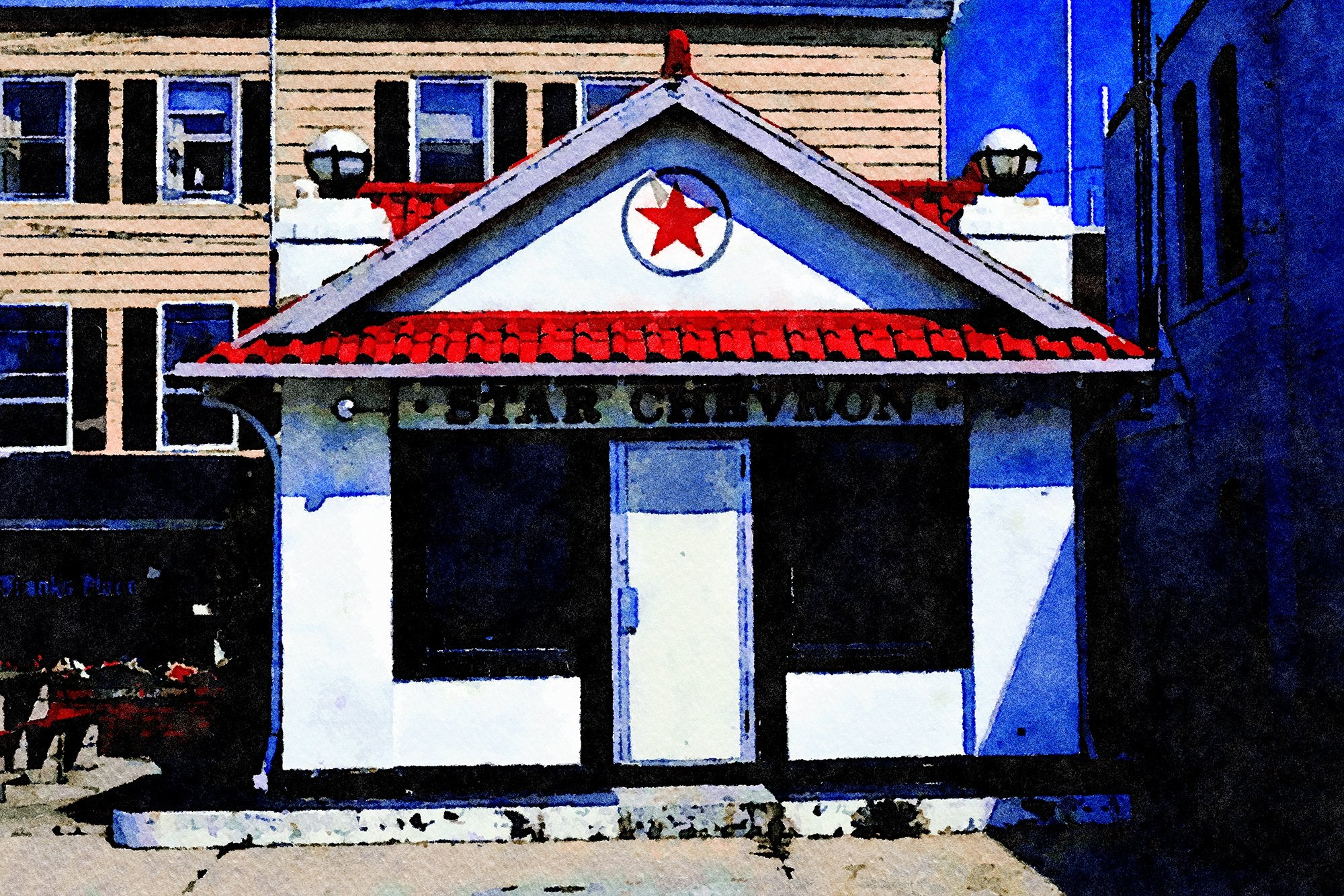 Star Chevron Gas Station, Bank Street, New London, Connecticut, Reworked, Series 1
