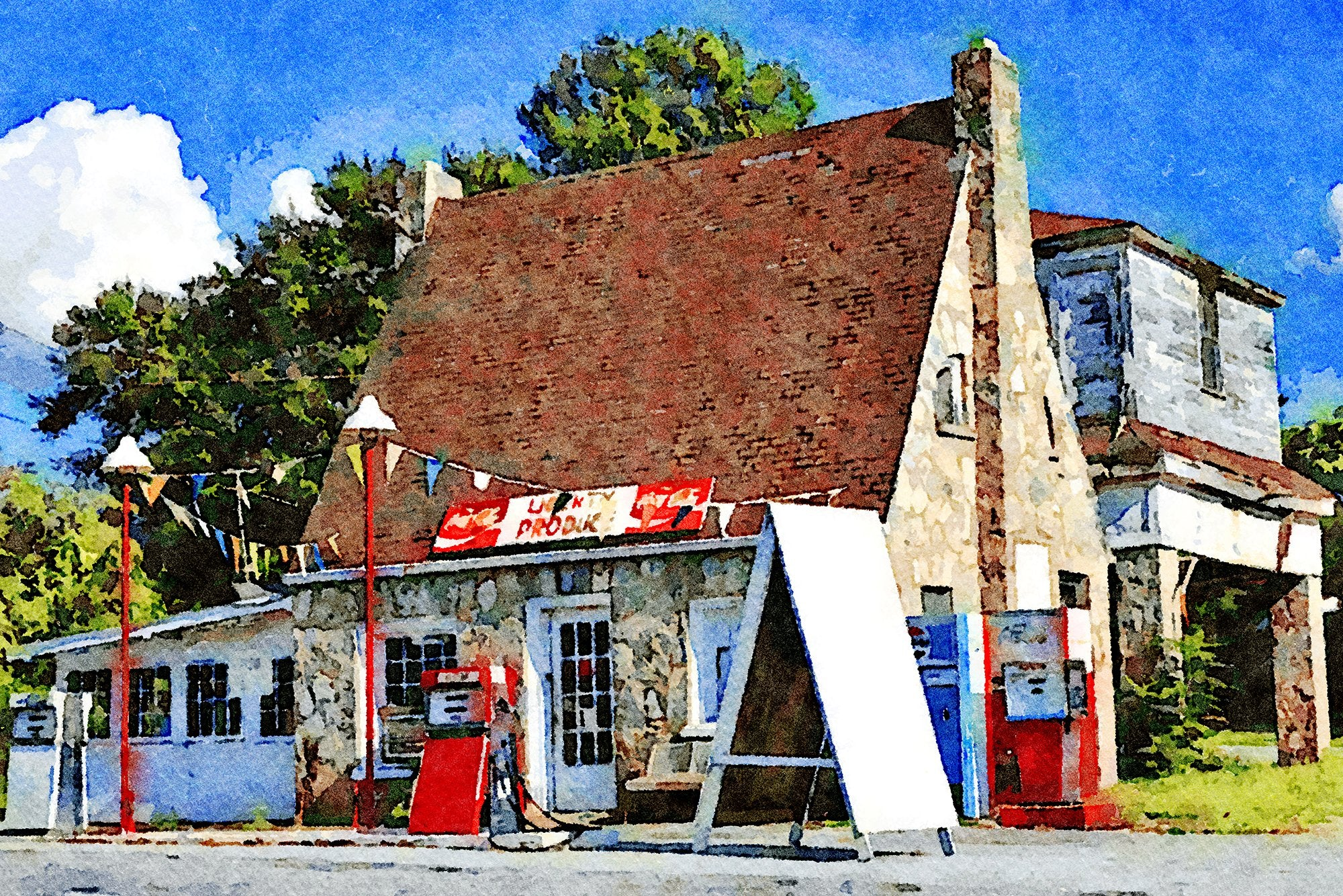 Stone Gas Station, Route 93, Liberty, South Carolina, Reworked, Series 1