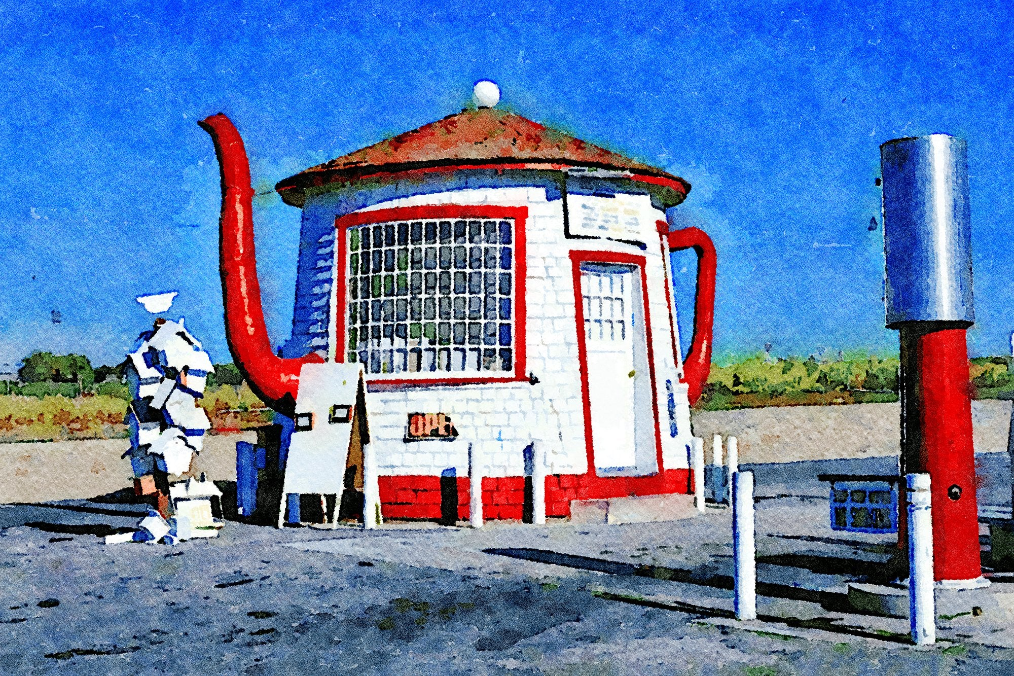 Teapot Dome Gas Station, Zillah, Washington, Reworked, Series 1