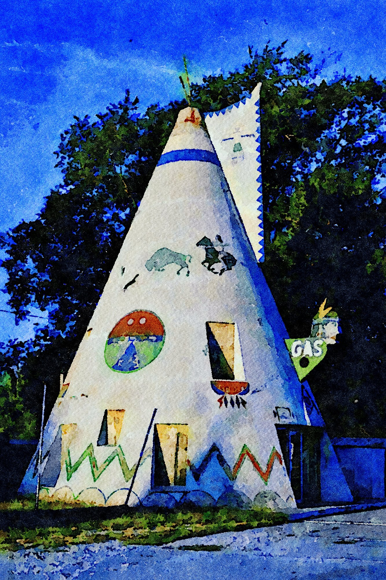 Teepee Gas Station, Route 40, Lawrence, Kansas, Reworked, Series 1