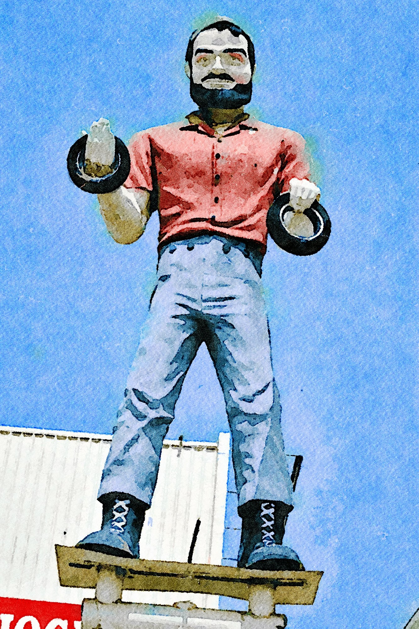 Tire Man Big Brand Tire Statue, Van Nuys, California, Reworked, Series 1