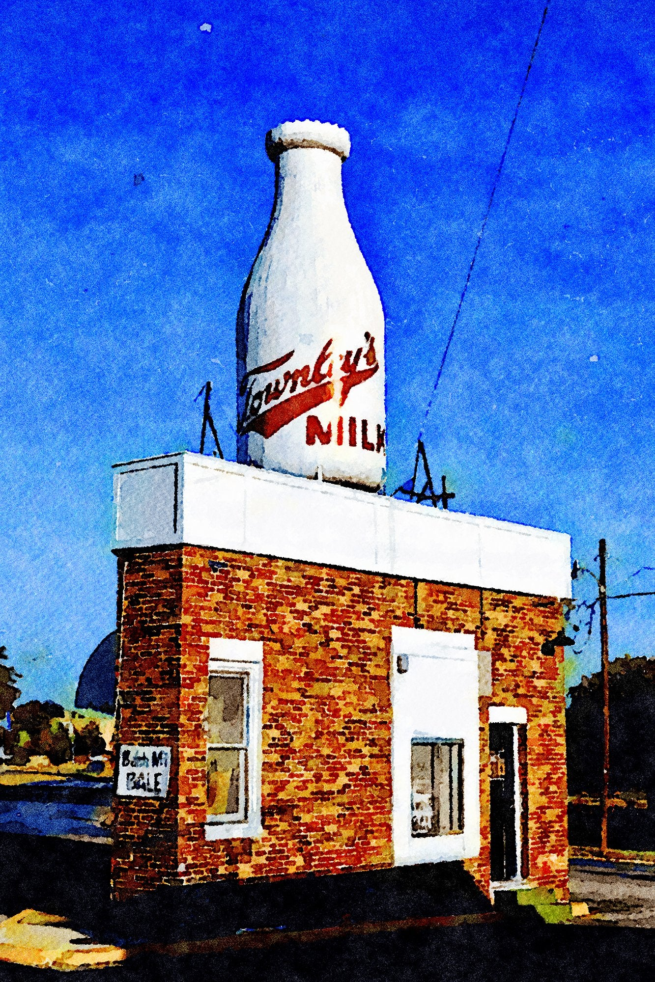 Townley Milk Bottle, Oklahoma City, Oklahoma 26447766349 O, Reworked, Series 1