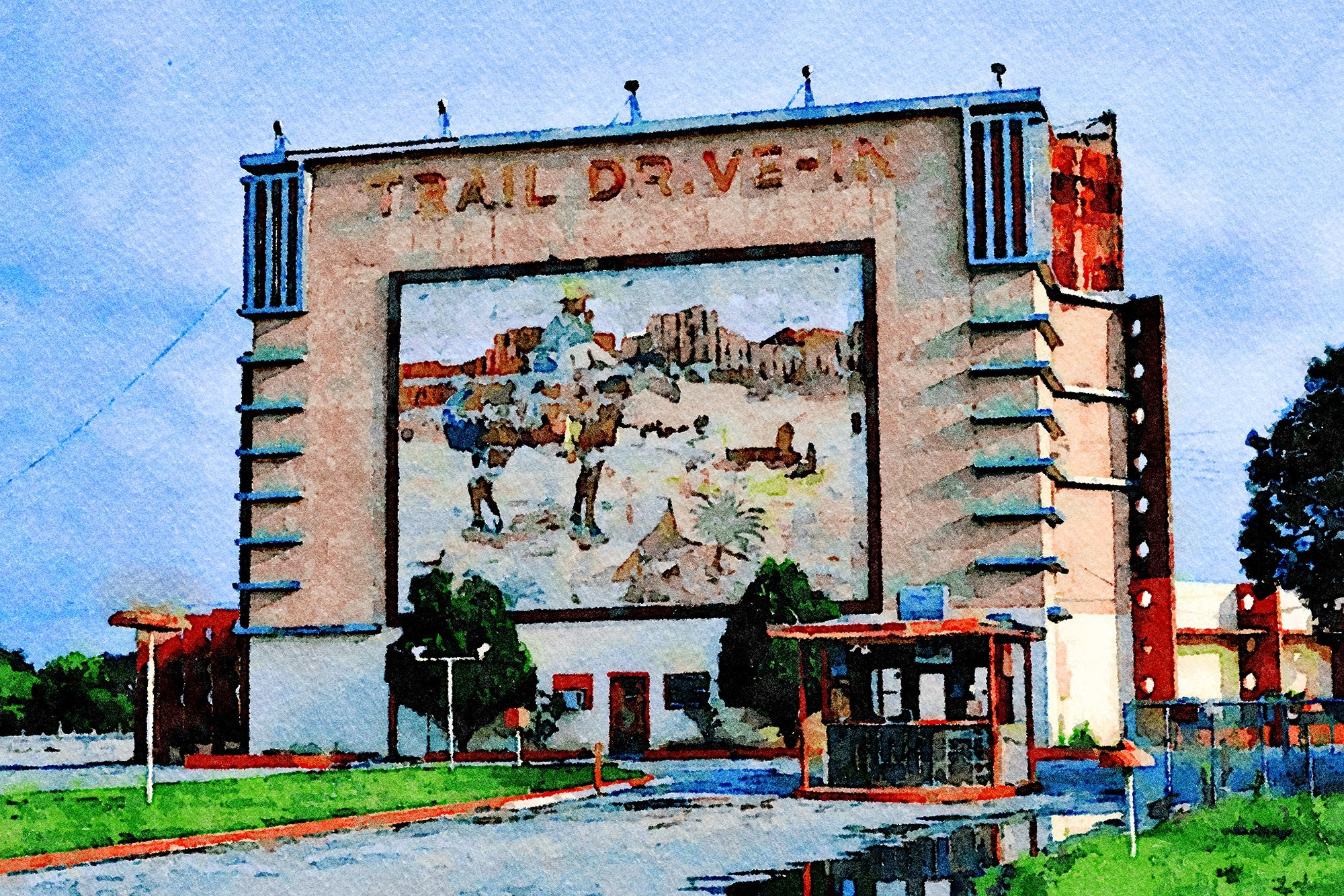 Trail Drive-In Theater, San Antonio, Texas, Reworked, Series 1