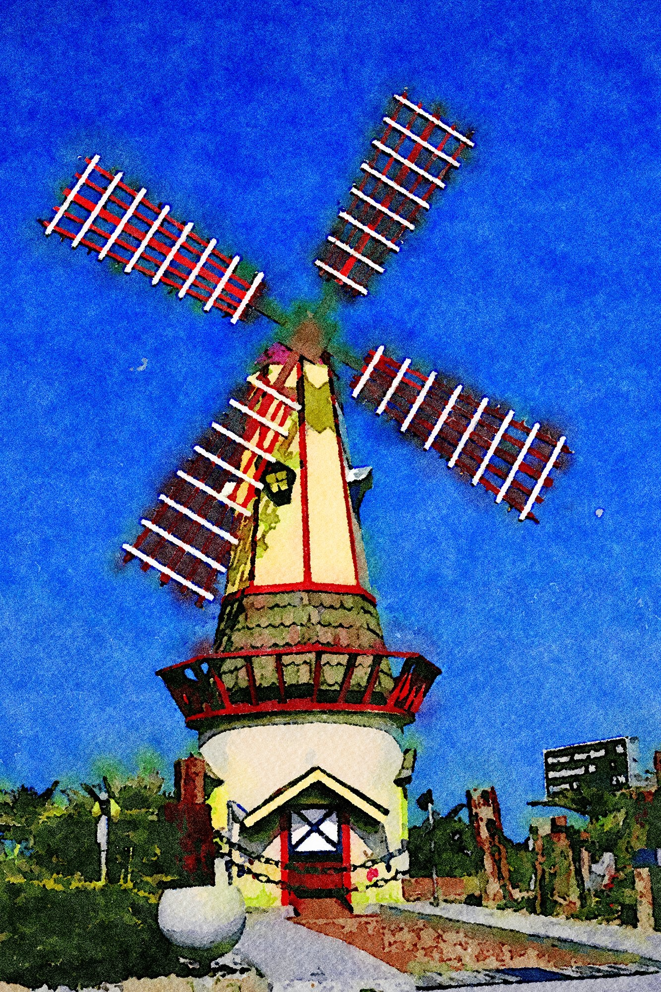 Windmill 2, Fountain Valley Mini Golf, Fountain Valley, California, Reworked, Series 1