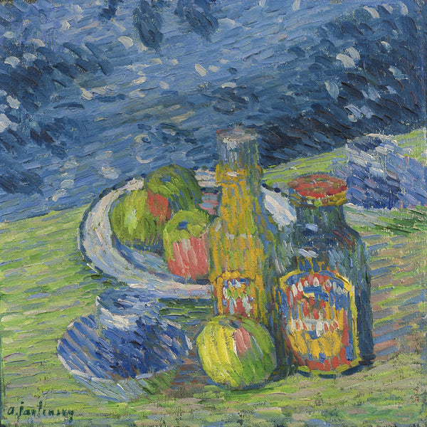 Still Life with Bottles and Fruit