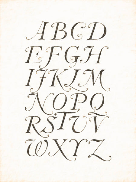 Alphabets Old and New, Illustration 104, Italics, 17th Century, Reworked, Series 1