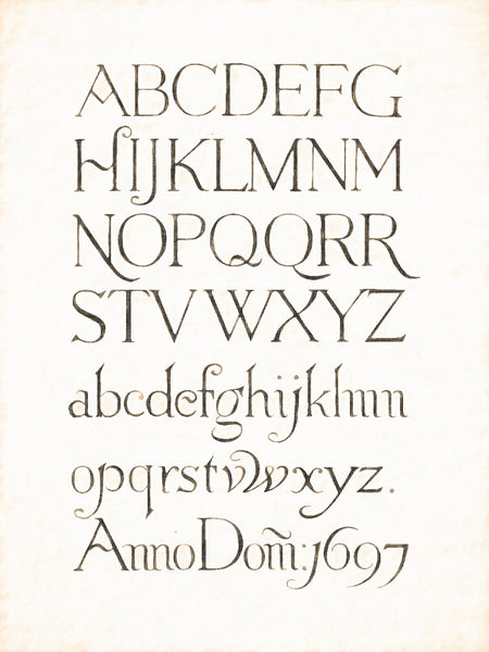 Alphabets Old and New, Illustration 106, Incised, Chippenham, 1697, Reworked, Series 1