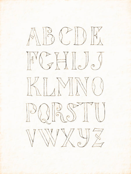 Alphabets Old and New, Illustration 107, Painted, German, 1727, Reworked, Series 1