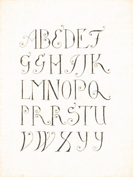 Alphabets Old and New, Illustration 108, Penwork, German, J. H. Tiemroth, 1738-48, Reworked, Series 1