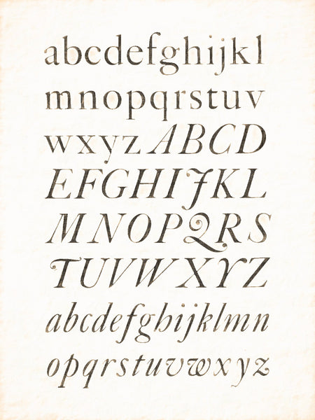 "Alphabets Old and New, Illustration 125, Printed ""Caslon"" Type, Reworked, Series 1"