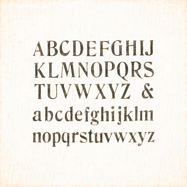 "Alphabets Old and New, Illustration 127, ""Compressed"" Printed Type, Reworked, Series 1"