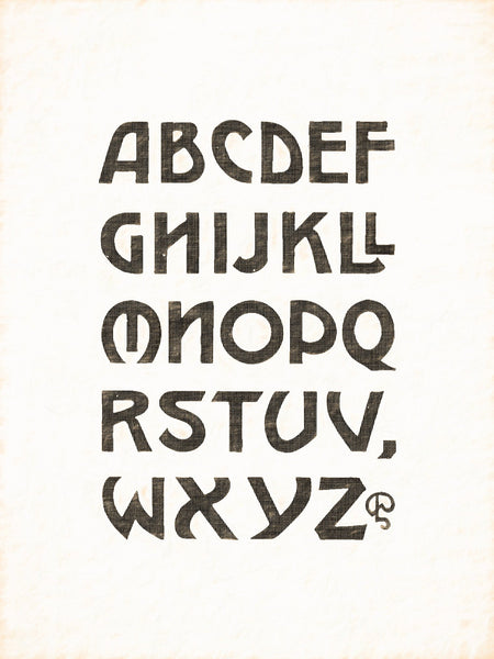 Alphabets Old and New, Illustration 129, Block Capitals, W. J. Pearce, Reworked, Series 1