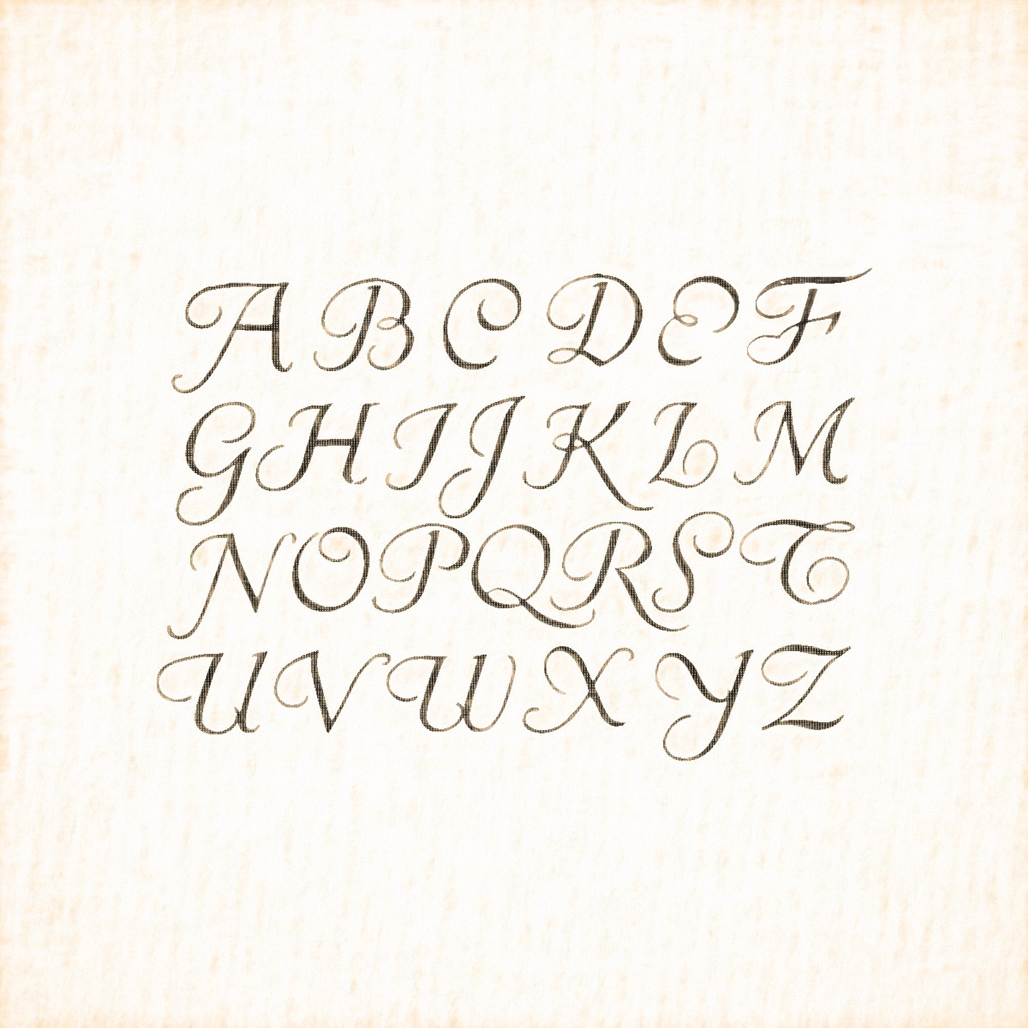Alphabets Old and New, Illustration 133, Penwork, R. K. Cowtan, Reworked, Series 1