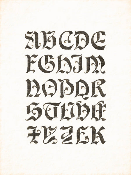 Alphabets Old and New, Illustration 149, Gothic Capitals W. J. Pearce, Reworked, Series 1