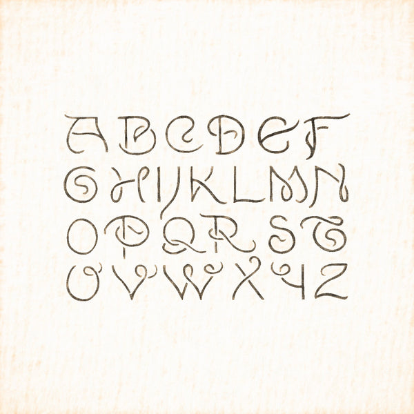 Alphabets Old and New, Illustration 158, Lewis Foreman Day, Reworked, Series 1