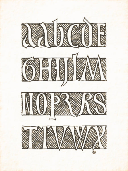 Alphabets Old and New, Illustration 175, Engraved on Brass, Bamberg, Reworked, Series 1