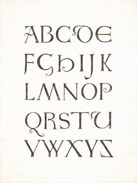 Alphabets Old and New, Illustration 51, Minuscule, 10th Century, Reworked, Series 1