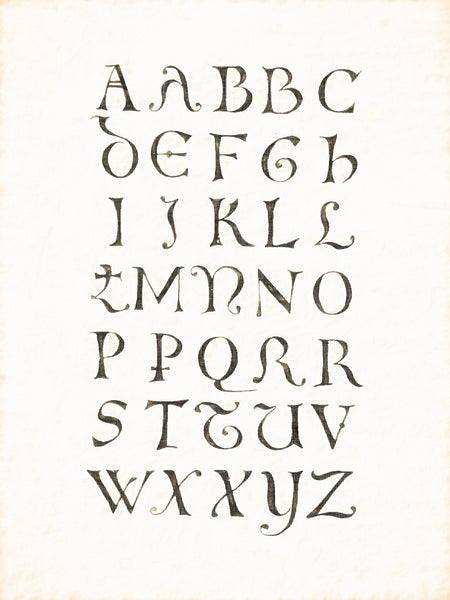 Alphabets Old and New, Illustration 54, 12th Century, Minuscule, German, Reworked, Series 1