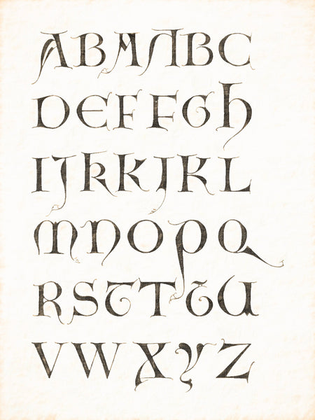 Alphabets Old and New, Illustration 55, End of 12th Century, Majuscule, English, Reworked, Series 1