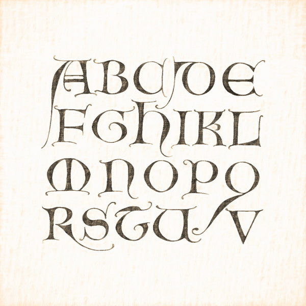 Alphabets Old and New, Illustration 58, From a Psalter, 13th Century, Reworked, Series 1