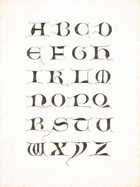 Alphabets Old and New, Illustration 59, Majuscule, 14th Century, Reworked, Series 1