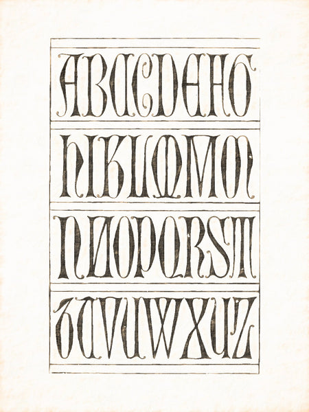 Alphabets Old and New, Illustration 61, Incised Gothic Capitals, About 1350, Reworked, Series 1