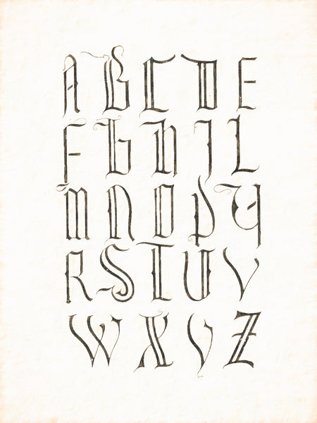 Alphabets Old and New, Illustration 67, Minuscule, 1420, Reworked, Series 1