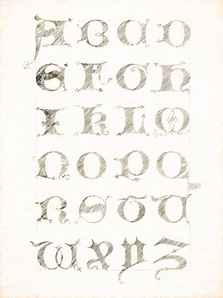 Alphabets Old and New, Illustration 71, Minuscule, About 1475, Reworked, Series 1