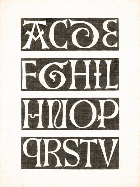 Alphabets Old and New, Illustration 75, Incised in Marble, German, 1482, Reworked, Series 1