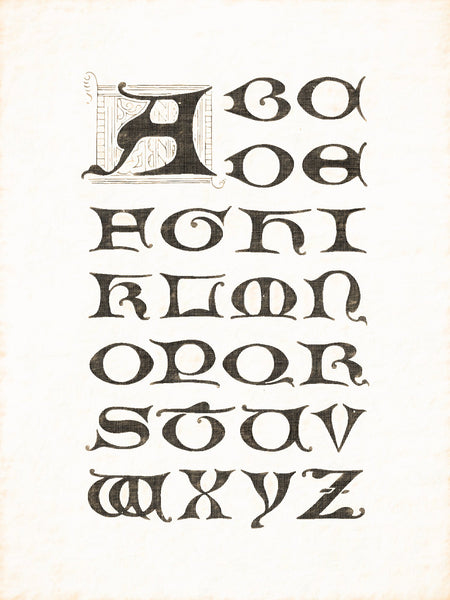 Alphabets Old and New, Illustration 78, Gothic, 16th Century, Reworked, Series 1