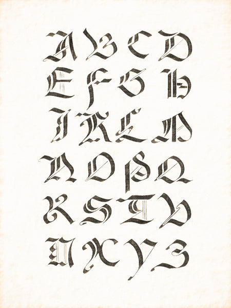 Alphabets Old and New, Illustration 82, Italian Majuscule, 15th and 16th Centuries, Reworked, Series 1