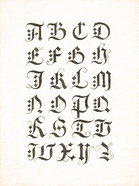 Alphabets Old and New, Illustration 84, Albrecht Durer, Early 16th Century, Reworked, Series 1