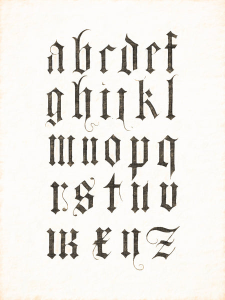 Alphabets Old and New, Illustration 85, Albrecht Durer, Early 16th Century, Reworked, Series 1